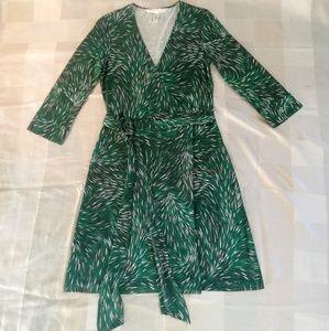 Diane von Furstenberg 100% silk jersey dress 10